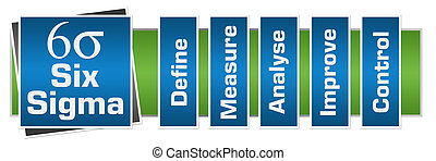 Six Sigma Blue Green Horizontal - Six sigma concept image...