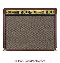 Guitar amplifier acoustic - Photograph of the front of a...