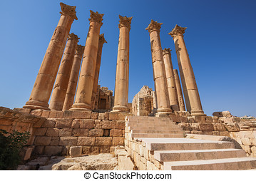 Temple of Artemis in Jerash, Jordan
