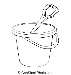 Tin - Black outline vector Tin on white background