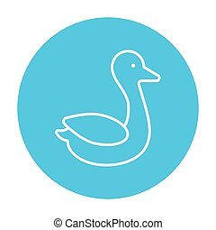 Duck line icon - Duck line icon for web, mobile and...