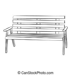 Chair - Black outline vector chair on white background