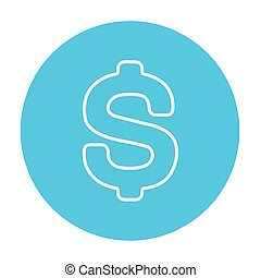 Dollar symbol line icon - Dollar symbol line icon for web,...