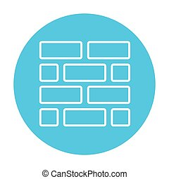 Brickwall line icon. - Brickwall line icon for web, mobile...