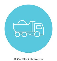 Dump truck line icon - Dump truck line icon for web, mobile...