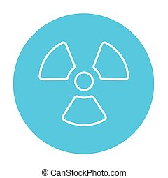 Ionizing radiation sign line icon. - Ionizing radiation sign...