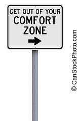 Comfort Zone - Modified sign on leaving your comfort zone...