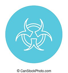 Bio hazard sign line icon - Bio hazard sign line icon for...