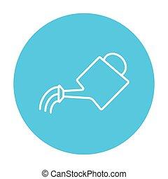Watering can line icon. - Watering can line icon for web,...