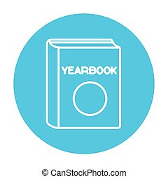 Yearbook line icon - Yearbook line icon for web, mobile and...
