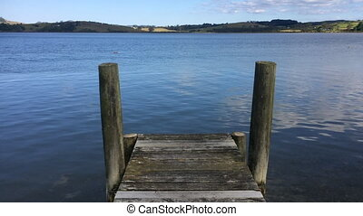 Empty wooden pier - Landscape view of an empty wooden pier...