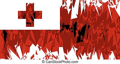 Flag of Tonga - Flag of Tonga in grunge style Vector...