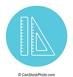 Rulers line icon. - Rulers line icon for web, mobile and...