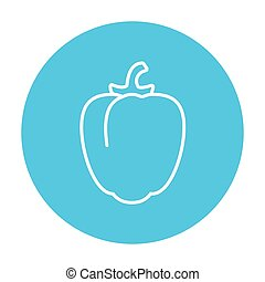 Bell pepper line icon - Bell pepper line icon for web,...