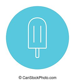 Popsicle line icon - Popsicle line icon for web, mobile and...