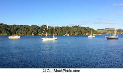 Mangonui Harbour New Zealand - Panoramic landscape view of...