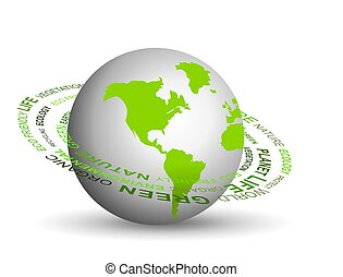 Go green concept - illustration of Go green concept with...