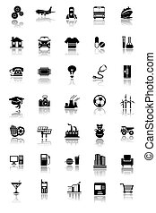 Industrial icons - An illustration of an Industrial button...