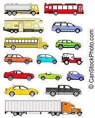 Transportation icons - An illustration of transportation...