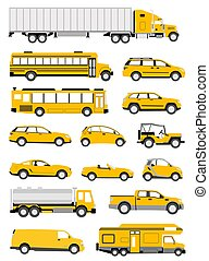 Transportation icons - An illustration of transportation...