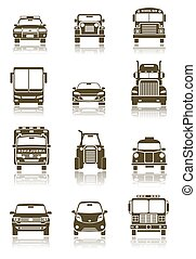 Transportation icons - An illustration of different...