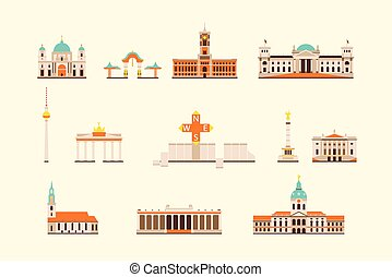 Berlin historical building - Vector graphics, flat city...