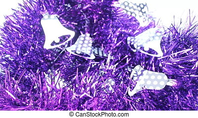 Beautiful violet decorated ribbon for celebration, stock...