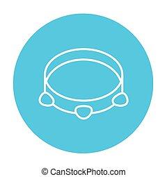 Tambourine line icon. - Tambourine line icon for web, mobile...
