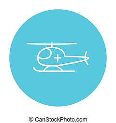 Air ambulance line icon - Air ambulance line icon for web,...