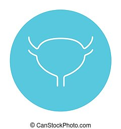 Urinary bladder line icon - Urinary bladder line icon for...