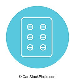 Plate of pills line icon - Plate of pills line icon for web,...