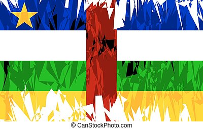 Central African Republic. - Flag of Central African Republic...