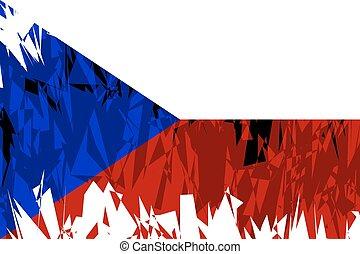 Flag of Czech Republic.