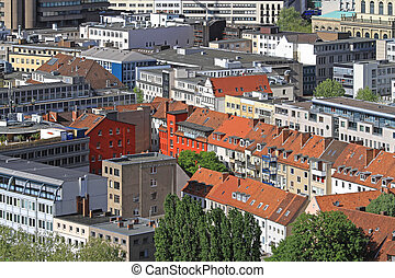 Hanover - Aerial View of Buildings in Hannover Germany