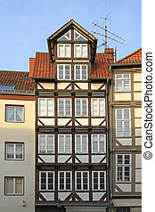 Medieval Hanover House - Traditional Wood Frame Building in...