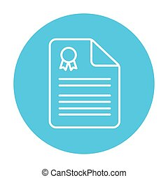 Real estate contract line icon.