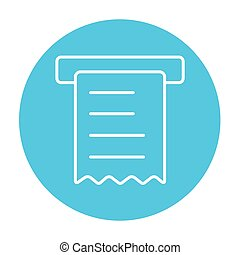 Receipt line icon - Receipt line icon for web, mobile and...