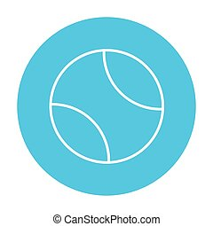 Tennis ball line icon - Tennis ball line icon for web,...