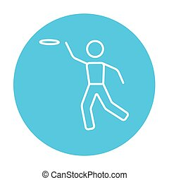 Frisbee line icon - Frisbee line icon for web, mobile and...