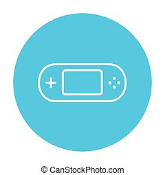 Game console gadget line icon - Game console gadget line...