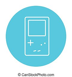 Electronic game line icon. - Electronic game line icon for...