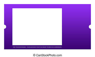Blank Event ticket - Blank event ticket isolated on white...