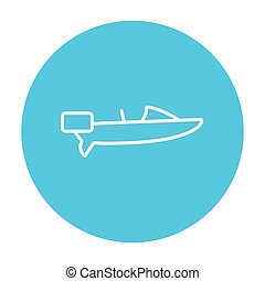 Motorboat line icon - Motorboat line icon for web, mobile...