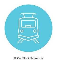 Front view of train line icon - Front view of train line...