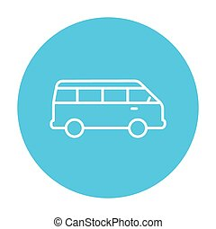 Minibus line icon - Minibus line icon for web, mobile and...