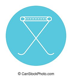 Folding chair line icon - Folding chair line icon for web,...