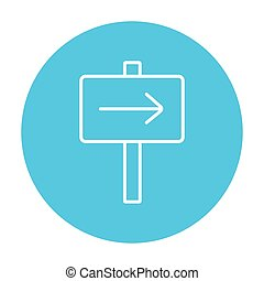 Travel traffic sign line icon. - Travel traffic sign line...