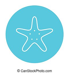 Starfish line icon - Starfish line icon for web, mobile and...