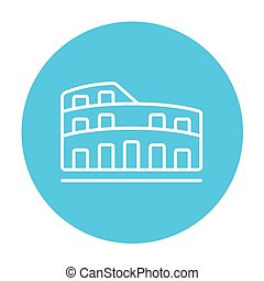 Coliseum line icon. - Coliseum line icon for web, mobile and...