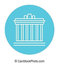 Acropolis of Athens line icon - Acropolis of Athens line...